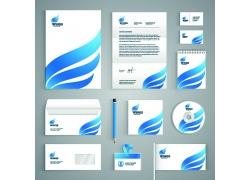 蓝色翅膀logo公司VI设计