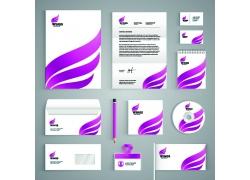 紫色logo公司VI设计