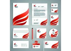 红色翅膀logo公司VI设计