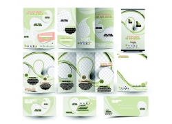 绿色梦幻折页横幅海报