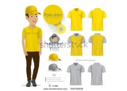 黄色灰色制服设计