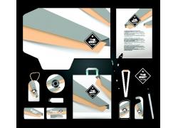 折纸背景VI模板