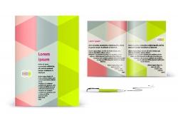 三角形背景画册设计