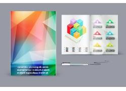 炫彩三角形背景画册设计