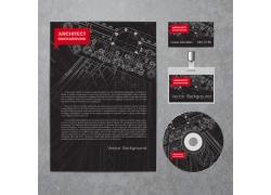 机械图纸背景工作牌CD设计