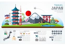 日本富士山宝塔信息图表