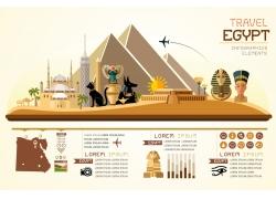 埃及金字塔动物信息图表