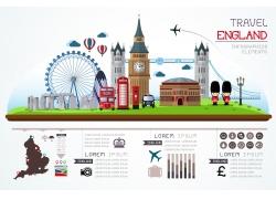 城市著名建筑风景信息图表