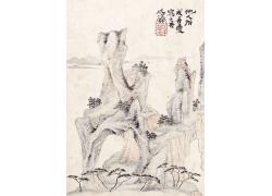 中国画水墨山水画