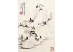 中国水墨山水画