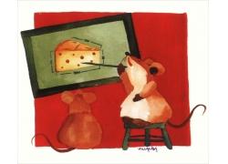 卡通老鼠插画图片