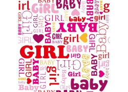 男孩女孩英文装饰画图片