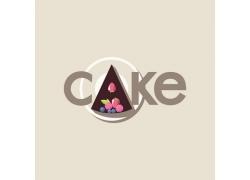 彩色蛋糕英文字母标志
