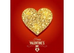 金色爱心情人节海报设计图片