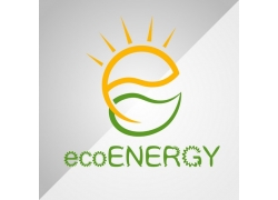 太阳绿叶能源标志