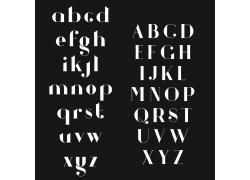 时尚英文字母字体