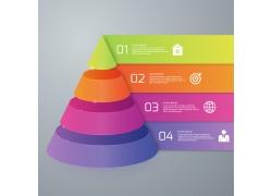 彩色圆维体信息图表