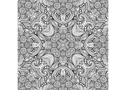 树叶花卉图案背景