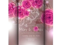 盛开的立体花朵婚礼贺卡