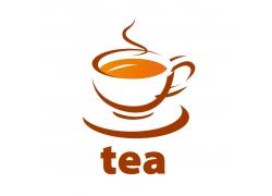 茶杯和英文字母标志