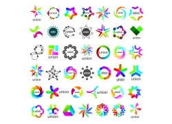 个性炫彩几何图形标志