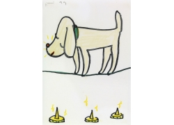 走钢丝的卡通小狗漫画图片