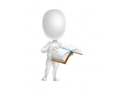 看书的3D小人
