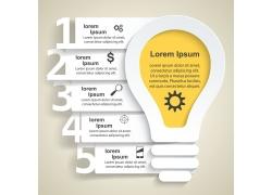 电灯泡数字标签设计