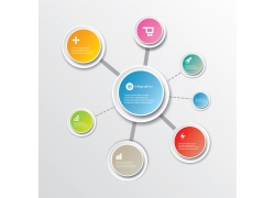 创意圆形标签结构图设计