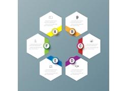 六边形结构图标签设计