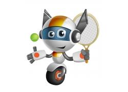 打网球的独轮机器人