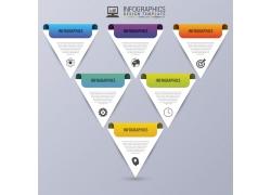 彩色三角形信息图表