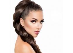 外国辫子美女模特