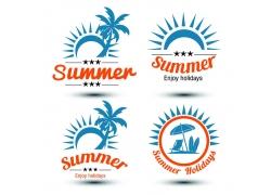 海岛旅游logo设计素材图片