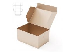 盒子效果图与钢刀线