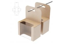 透明包装盒效果图