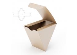 倒三角形包装盒效果