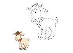 卡通羊漫画图片