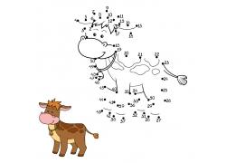 卡通奶牛漫画数字游戏图片