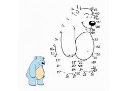 卡通小熊简笔画图片