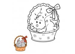 卡通兔子数字漫画图片