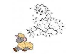 卡通羊数字游戏漫画图片