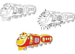 卡通火车简笔画图片
