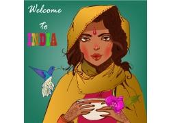 卡通印度女孩漫画图片
