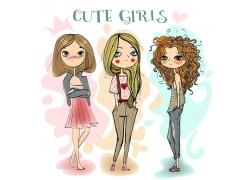 手绘女孩漫画图片