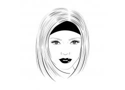 卡通女孩肖像画图片
