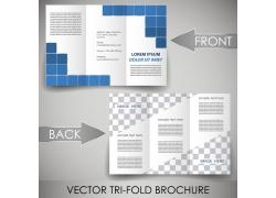 蓝色方形三折页图片