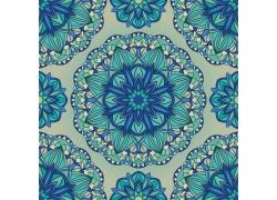 无缝拼接花卉图案