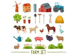 农场工具动物图图片