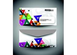 彩色三角形信封设计